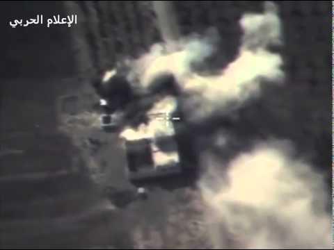 قصف طيران روسي ضد داعش في سوريا ادلب2015 /10/15