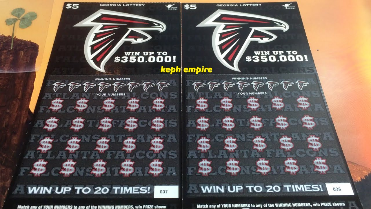 Atlanta Falcons First Time Scratcher 5 Georgia Lottery Scratchers Youtube