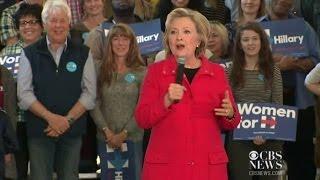 Хиллари Клинтон загавкала во время встречи с избирателями