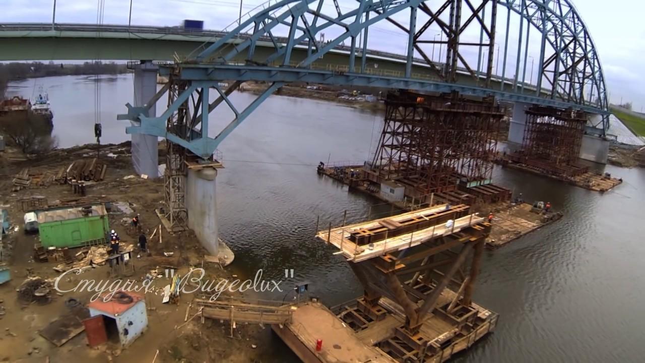 Демонтаж моста через реку Москва в Бронницах