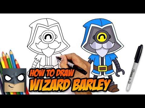How To Draw Brawl Stars Wizard Barley Step By Step Youtube