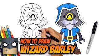 How to Draw Brawl Stars   Wizard Barley   Step-by-Step