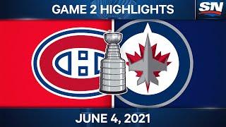 NHL Game Highlights   Canadiens vs. Jets, Game 2 - Jun. 4, 2021