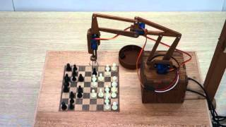 Деревянный робот играет в шахматы | ChessBot - wooden chess-playing robot(Hello, this is one of my Arduino-projects - ChessBot, chess-playing robot. His brain is an Android-smartphone, that sees the chessboard, analyzes position and ..., 2016-03-25T08:56:36.000Z)
