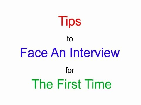 How to Face An Job Interview For The First Time - YouTube