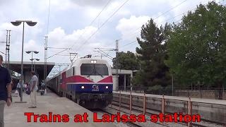 Greek railways, Trains at Larissa station