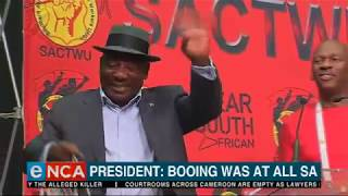 President Booing was at all South Africans