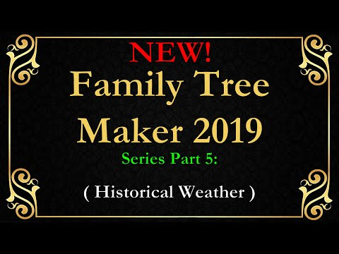 FTM 2019 Family Tree Maker Historical Weather