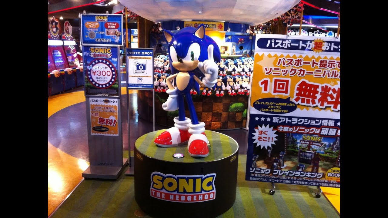 Sonic And Sega Arcades In Tokyo Japan Youtube