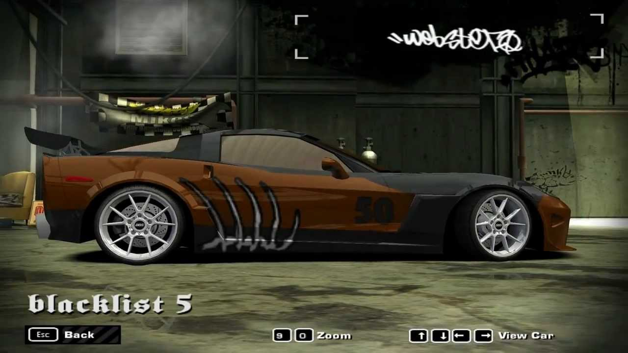 NFS Most Wanted Blacklist Car - #5 Webster - YouTube