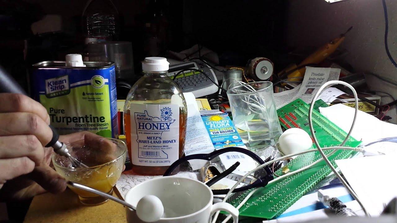 turpentine + honey (caution) updated below