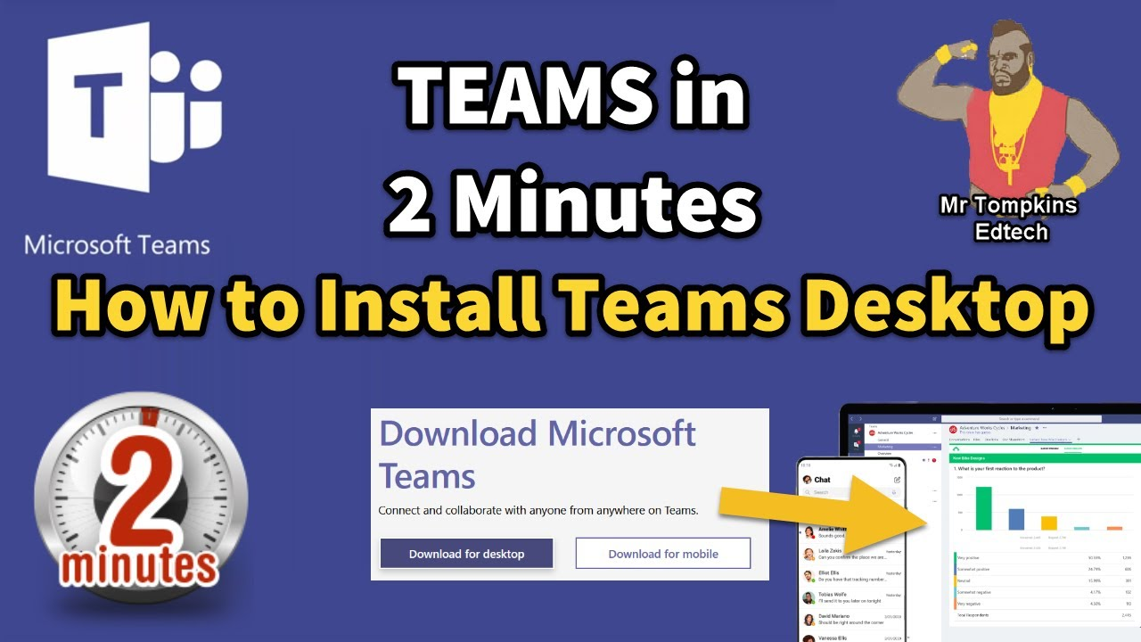 How to Install the Microsoft Teams Desktop Client - Teams in 2 Minutes!
