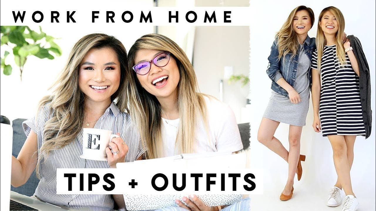 WORK from HOME Productivity Tips + OUTFIT IDEAS ft FashionbyAlly ...