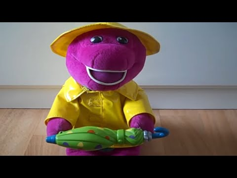 Barney Soft Toy With Umbrella Youtube