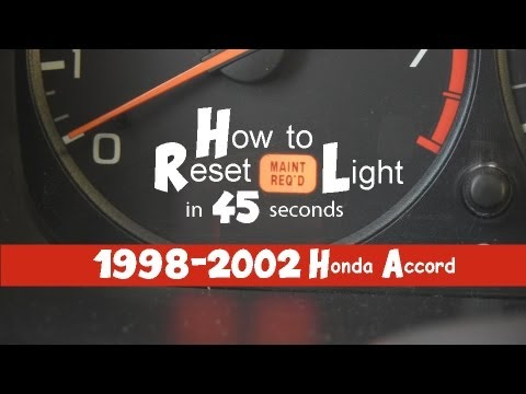 How To Turn Off Reset Maintenance Required Light In 45