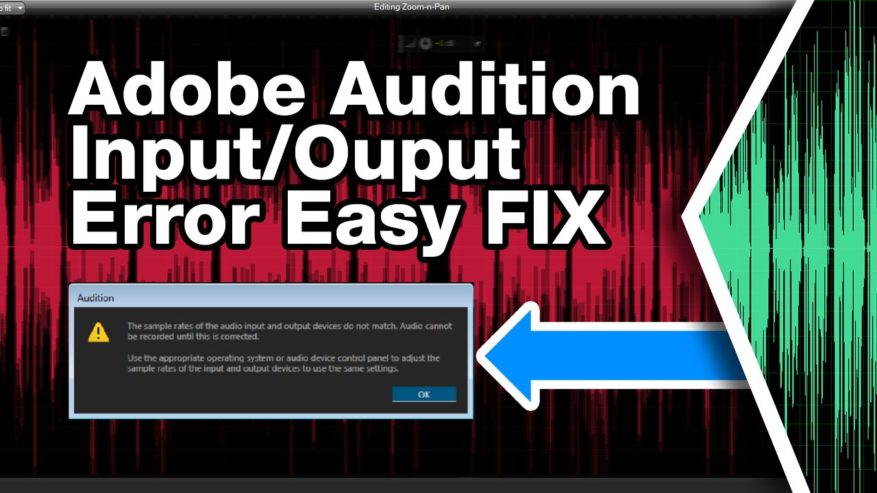 Adobe Audition CS6 CC Error Fix (input and output sample rates do ...