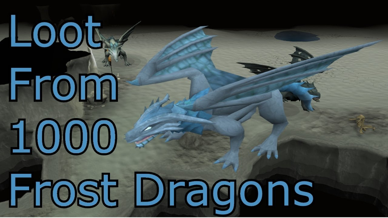 Runescape - Loot From 1000 Frost Dragons - YouTube Frost Dragon Runescape