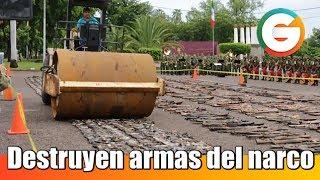 Ejército destruye armas decomisadas en Sinaloa y Durango