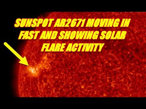 NIBIRU / PLANET X NEWS - SOLAR DYNAMICS VIEW OF SUNSPOT 2671 48 HR LOOP IMAGES