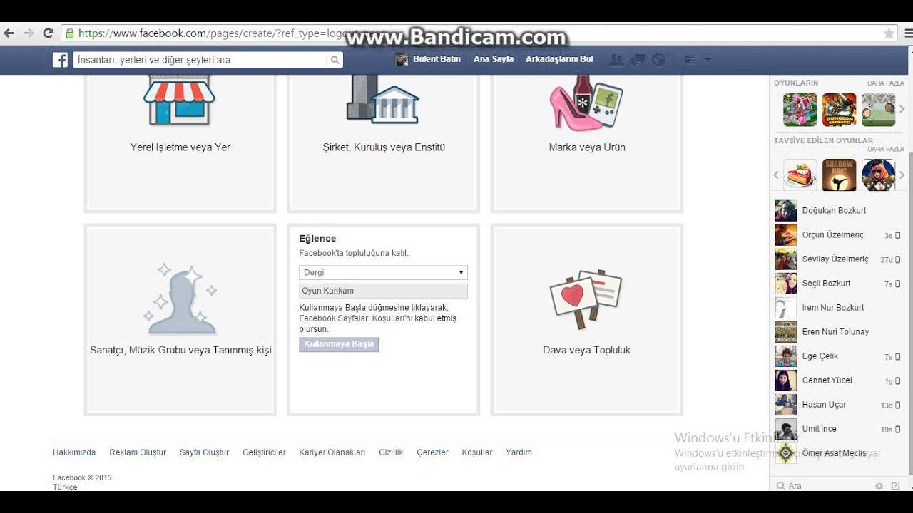 Facebook Sayfası Nasıl Açılır ?