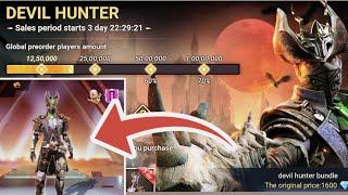 Devil Hunter Bundle pre order - Free fire | Free fire New Event