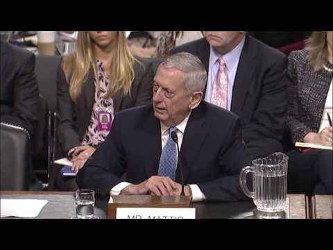 Senator King Questions Secretary of Defense Nominee Mattis in Armed Services Hearing