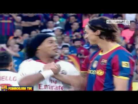 FC Barcelona Vs AC Milan 1-1 Joan Gamper Throphy 25.08.10 Ronaldinho Ibrahimovic