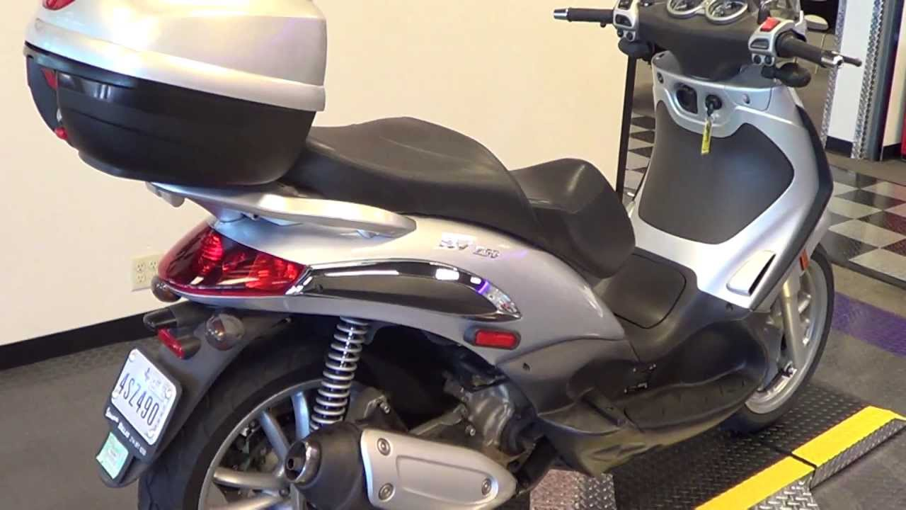 2007 piaggio bv250-low miles-automatic-excellent condition - youtube