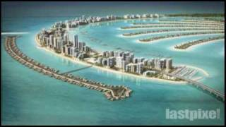 Dubai. The Palm Jumeirah. 3D-animation