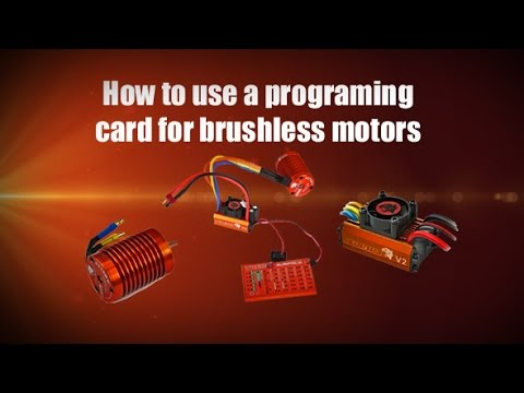 How To Use A Programming Card For Brushless Motor
