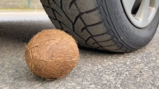 Crushing Crunchy & Soft Things by Car! - EXPERIMENT: CAR VS COCONUT