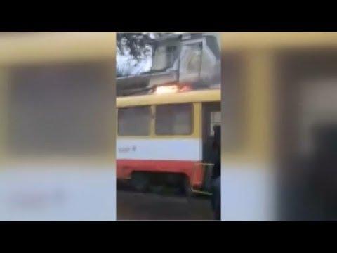 ЧП.INFO: В Одесі загорівся трамвай з пасажирами