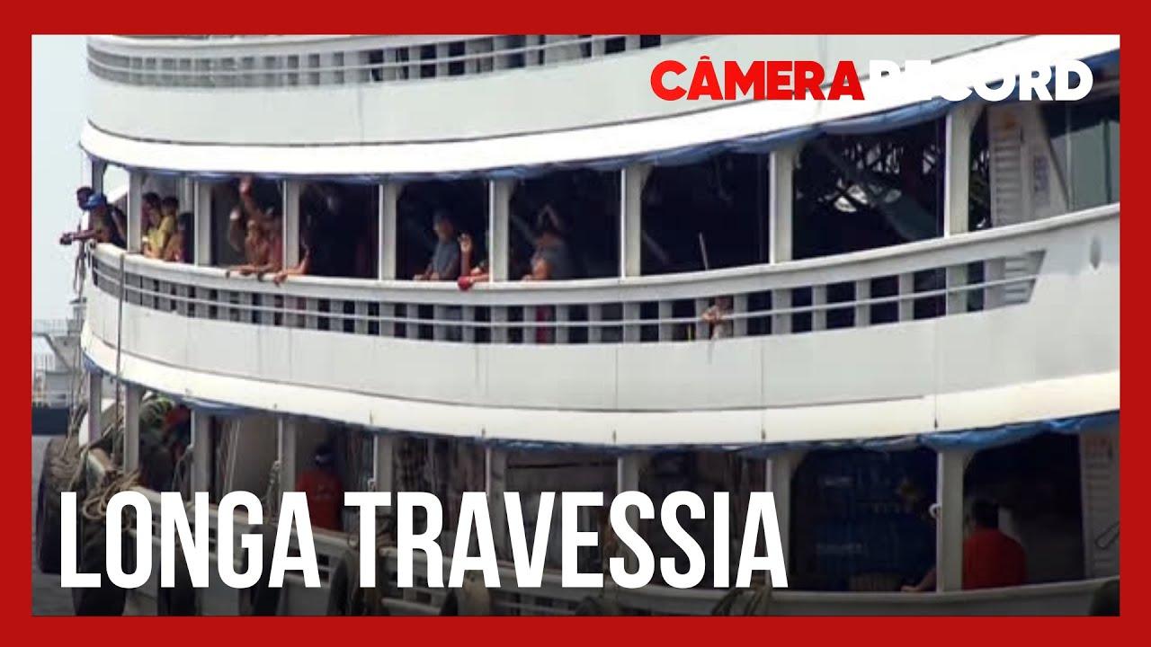 Câmera Record embarca na maior e mais demorada viagem de barco do Brasil
