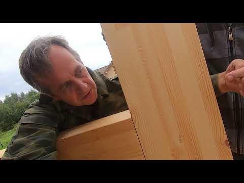 Сборка фахверковой конструкции, день 5. Ручное изготовление замка фахверка