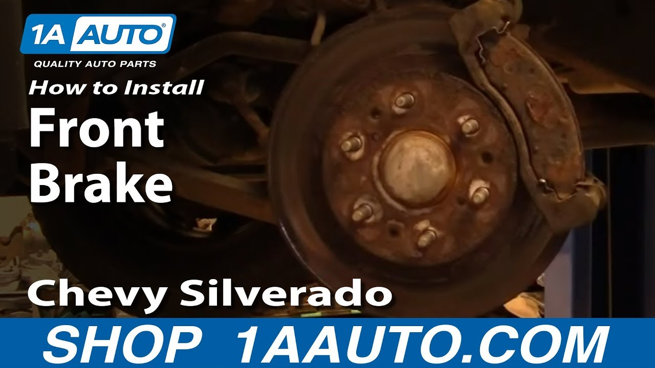 how to install replace front brakes chevy silverado gmc sierra 1500 99 06 1aauto com youtube [ 1920 x 1080 Pixel ]