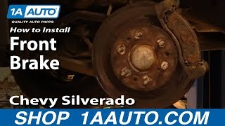 How to Replace Front Brakes 05-06 Chevy Silverado 1500
