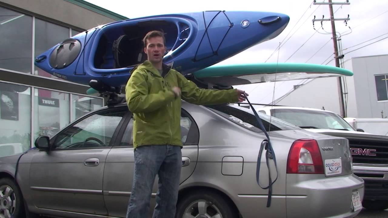 How To Tie Down A Kayak With The Thule Hull A Port Youtube