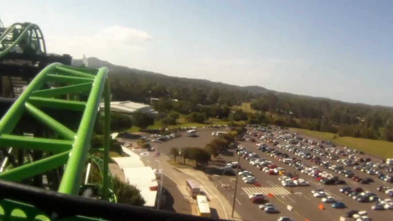 Green Lantern Coaster Pov Movie World Youtube