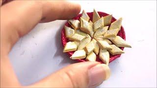 DIY Miniature Kaju Katri - miniature indian sweet - Clay Art - Art with HHS
