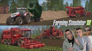 Farming Simulator 17 MP ☆ Kopanie buraków 2016 na większa skalę #3 Saitek ㋡ MafiaSolec