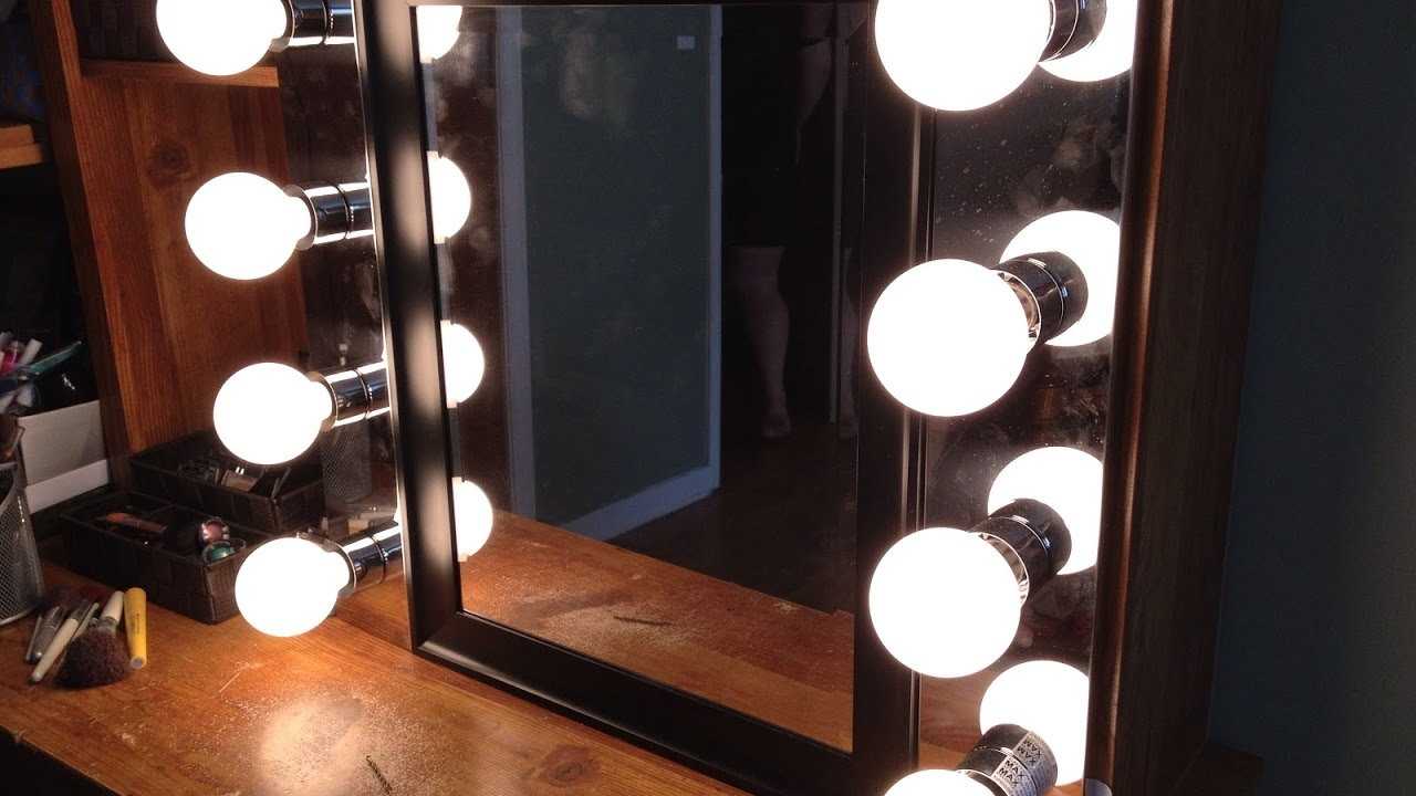 The Most Embellish Diy Lighted Vanity Mirror YouTube - Diy lighted vanity mirror