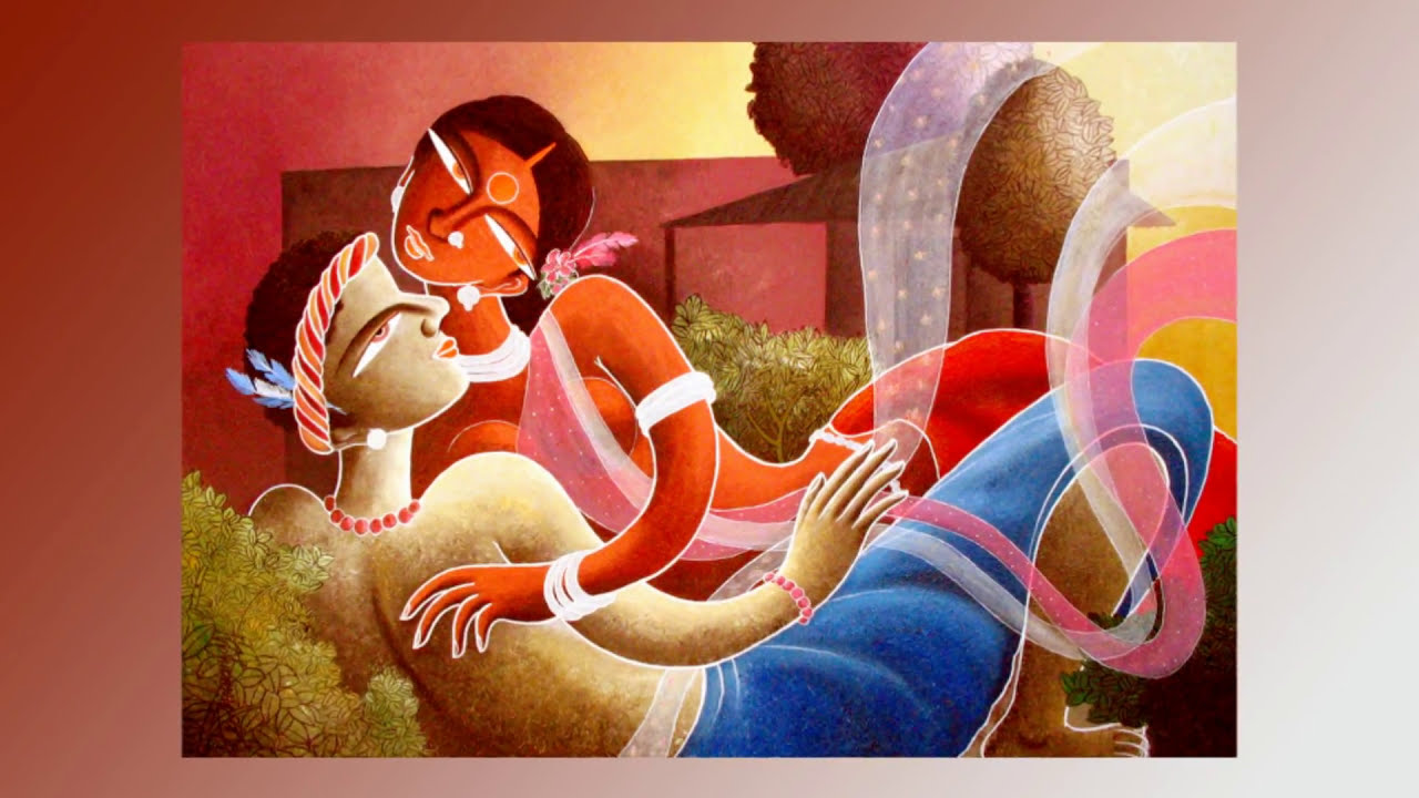 CONTEMPORARY INDIAN TRIBAL ART by Dhananjay - YouTube for Abstract Painting Of Indian Dancers  570bof