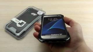 """ОБЗОР: Усиленный Чехол-Накладка для Samsung Galaxy S7 SM-G930F """"Caseology"""" (Силикон + Пластик)"""