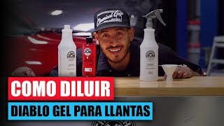 Como Diluir Diablo Wheel Gel - Chemical Guys Car Care