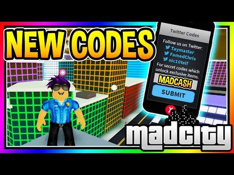 All New Codes Mad City Roblox Youtube