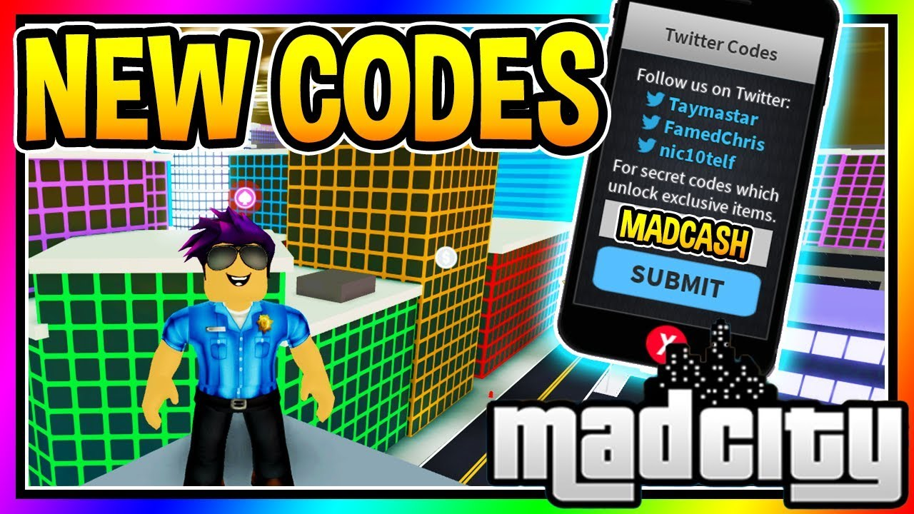 ALL NEW CODES MAD CITY Roblox - YouTube