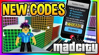 ALL NEW CODES MAD CITY Roblox