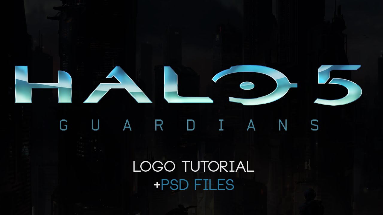 Halo 5 Guardians Logo Photoshop Tutorial PSD Files