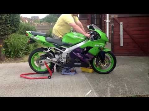 Kawasaki Ninja ZX9R C2, End Can Cut Off LOUD!!!