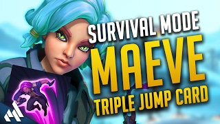 Paladins Survival | Maeve Legendary Triple Jump Card | Maeve Gameplay